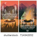 camping vertical background... | Shutterstock .eps vector #714342052