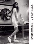 streetstyle  fashion.... | Shutterstock . vector #714346666