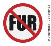 vector icon of a ban on fur... | Shutterstock .eps vector #714348496
