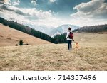 spring  autumn turistic time  ... | Shutterstock . vector #714357496