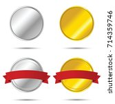 ribbons and labels collection... | Shutterstock .eps vector #714359746