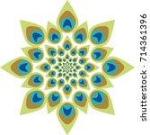 peacock feather abstract vector ...   Shutterstock .eps vector #714361396