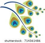 peacock feather abstract vector ...   Shutterstock .eps vector #714361486