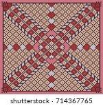 knitted pattern | Shutterstock .eps vector #714367765