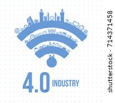 vector illustration of industry ... | Shutterstock .eps vector #714371458