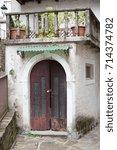 the village of poffabro. place... | Shutterstock . vector #714374782