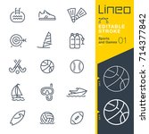 lineo editable stroke   sports... | Shutterstock .eps vector #714377842