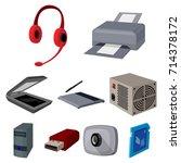 computer accessories.... | Shutterstock .eps vector #714378172