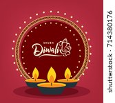 happy diwali wallpaper design...   Shutterstock .eps vector #714380176