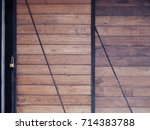 wooden vintage industrial style ... | Shutterstock . vector #714383788