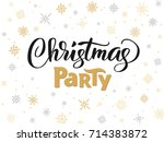 christmas party poster template ... | Shutterstock .eps vector #714383872