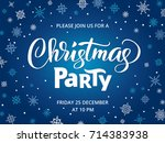 christmas party poster template ... | Shutterstock .eps vector #714383938
