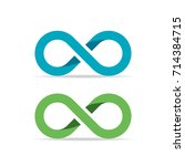 infinity vector symbol isolated ... | Shutterstock .eps vector #714384715