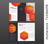 medical tri fold brochure... | Shutterstock .eps vector #714386098