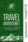 grunge travel banner with...   Shutterstock .eps vector #714387778
