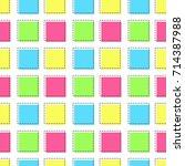 flat line square pattern vector  | Shutterstock .eps vector #714387988