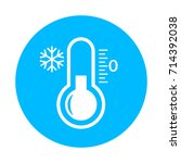 cold vector icon isolated on... | Shutterstock .eps vector #714392038
