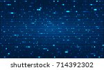 abstract background with binary ... | Shutterstock .eps vector #714392302