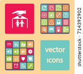 flat icon family. the husband... | Shutterstock .eps vector #714392902