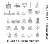 russia  moscow  map  russian...   Shutterstock .eps vector #714397768