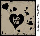 love hearts shape   Shutterstock .eps vector #71439778