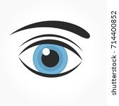 blue eye icon. vector... | Shutterstock .eps vector #714400852