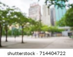 abstract blur city park bokeh... | Shutterstock . vector #714404722