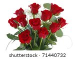 Stock photo red rose bouquet closeup 71440732