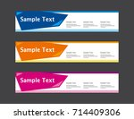 vector abstract banner template ... | Shutterstock .eps vector #714409306