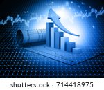 business graph. 3d illustration ... | Shutterstock . vector #714418975