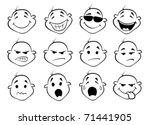 collection of  facial... | Shutterstock .eps vector #71441905