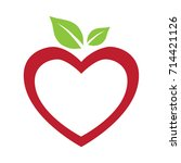 Red Heart And Green Leafs Logo...