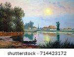 Oil Paintings Landscape  River...