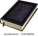 book of witchery   detailed... | Shutterstock .eps vector #714428056