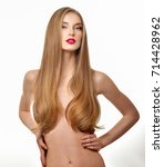 gorgeous hair. beauty fashion... | Shutterstock . vector #714428962