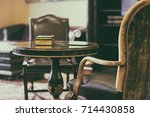 antique chair on the carpet | Shutterstock . vector #714430858