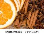 Sliced  Dried Orange With...