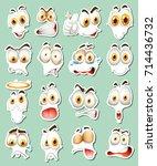 sticker design for facial... | Shutterstock .eps vector #714436732
