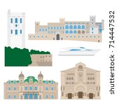 flat building of monaco country ... | Shutterstock .eps vector #714447532