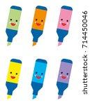 marking phosphorescent felttip... | Shutterstock .eps vector #714450046