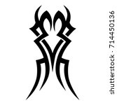 tribal tattoo art designs.... | Shutterstock .eps vector #714450136
