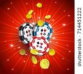 casino banner  poster design... | Shutterstock .eps vector #714451222