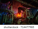 steel making workshop | Shutterstock . vector #714477985