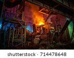 steel making workshop | Shutterstock . vector #714478648