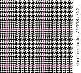 seamless hounds tooth pattern. | Shutterstock .eps vector #714485752