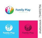family play logo template. | Shutterstock .eps vector #714492706