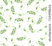 seamless pattern with spring... | Shutterstock . vector #714498616