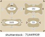 set of labels for flour  salt ... | Shutterstock .eps vector #71449939