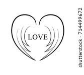 wings of love | Shutterstock .eps vector #714499672