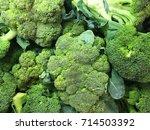 broccoli. broccoli close up | Shutterstock . vector #714503392